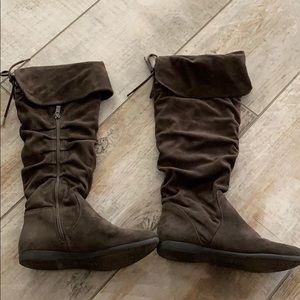 Aldo suade knee high flat boots